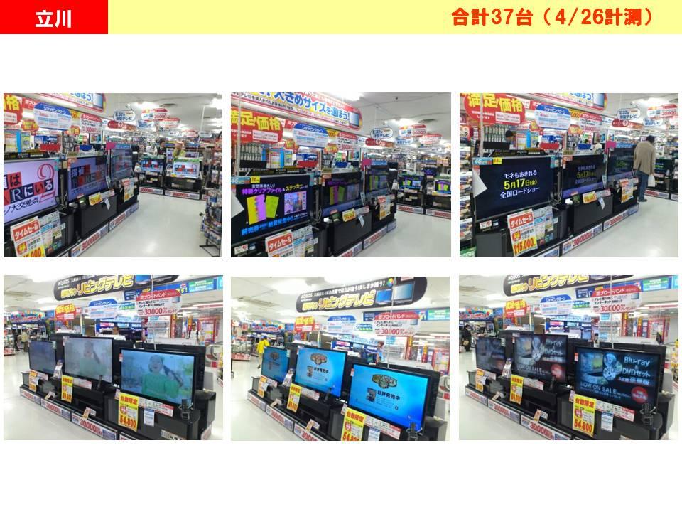 ビックTVの放映状況ビックカメラ立川店