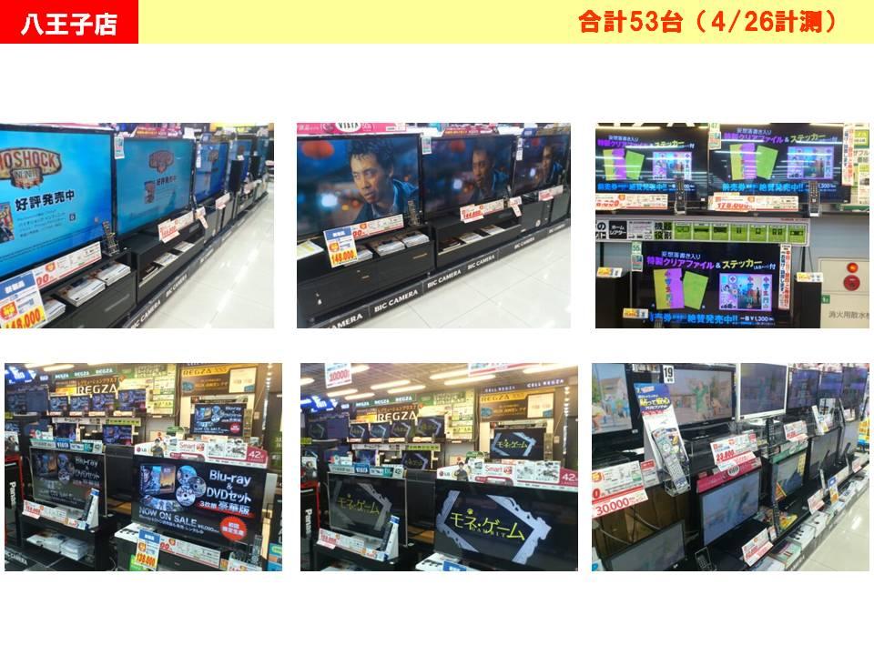 BIC-TV放映状況ビックカメラ八王子店
